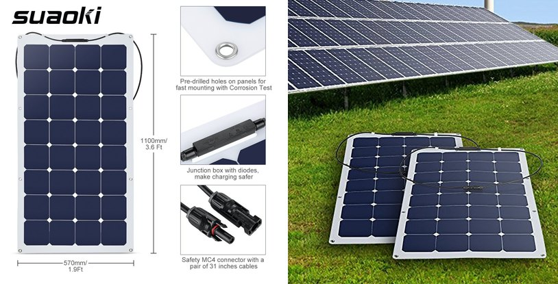 suaoki-100w-flexible-solar-panel-with-mc4-connector
