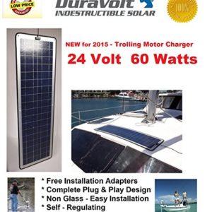 24-Volt-Solar-charger-60W-for-24-Volt-Trolling-Motors-DuraVolt-600-Watt-24-Volt-Plug-Play-Boat-Rv-Marine-Solar-Panel-Semi-Flexible-size-0