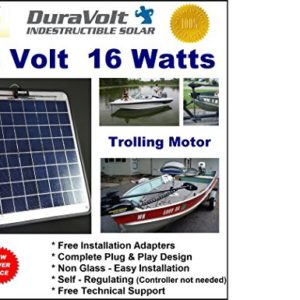 24-Volt-solar-charger-12-Amp-Trickle-Charger-for-24V-Trolling-Motors-Self-Regulating-Semi-Flexible-166W--Amp-Boat-Rv-Marine-Solar-Panel-No-experience-Plug-Play-Design-Dimensions-141-in-x-157-W-x-14-0
