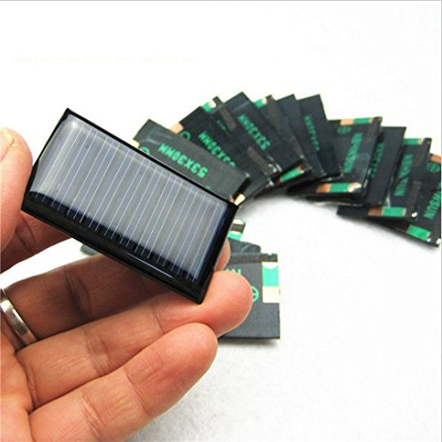 4 PCS -5V 30mA 53X30mm Micro Mini Power Solar Cells For Solar Panels – DIY Projects – Toys – 3.6v Battery Charger