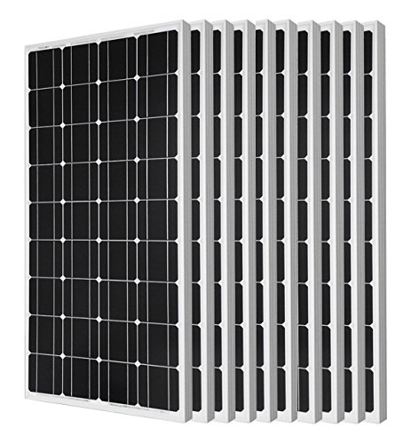 Eco Worthy 1kw Solar Panel 10pcs 100 Watts 12 Volts Monocrystalline Solar Pv Solar Panel Module 12v Battery Charging Energy Systems For Sale