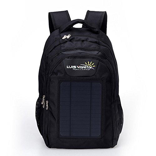 external frame hiking daypack sale luisvanita eco solar charger backpack bag black 6w - External Frame Hiking Backpack