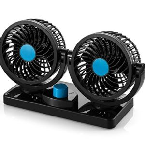 AboveTEK-12V-DC-Electric-Car-Fan-Rotatable-2-Speed-Dual-Blade-with-9FT-Cord-Quiet-Strong-Dashboard-Cooling-Fan-for-Sedan-SUV-RV-Boat-Auto-Vehicles-Effectively-Blow-Out-Hot-Air-Smoke-Odors-0