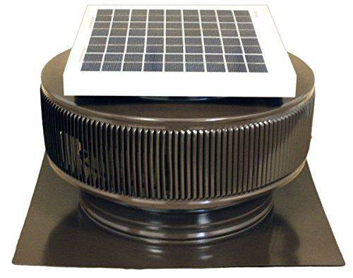 Aura Solar Fan, 12 Inch Diameter, 2 Inch Collar