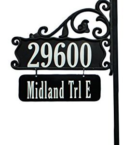 Boardwalk-Double-Sided-Super-Reflective-Address-Sign-48-with-Personalized-Nameplate-USA-Made-Great-Gift--Highly-Visible-DayNight-0
