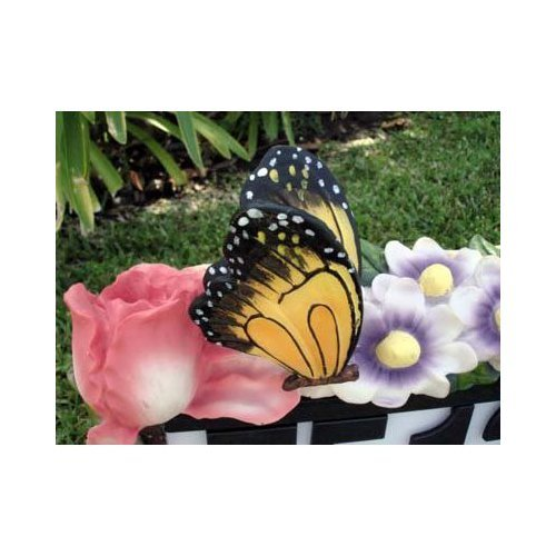 Butterfly-Flowers-Outdoor-Solar-Home-Address-Sign-Light-0