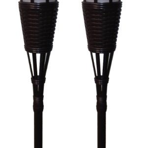 Newhouse-Lighting-Solar-Flickering-LED-Tiki-Torches-Dark-Chocolate-2-Pack-0