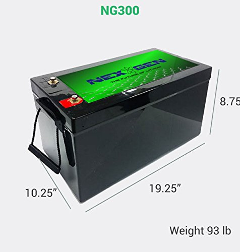 Nexgen 12v Lithium Ion Battery 12v 300ah Replacement For
