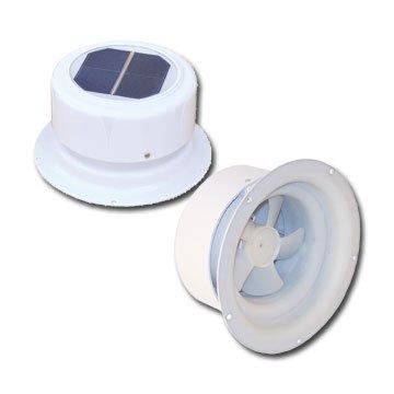 Ultra-Fab 53-945001 Mini Solar Plumbing Vent White