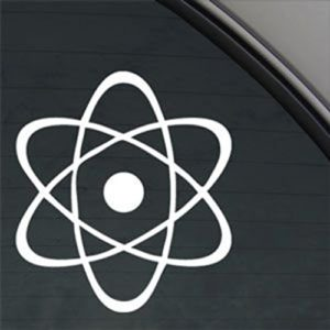 Atomic-Atom-Symbol-Decal-Vinyl-StickerCars-Trucks-Walls-LaptopWHITE55-In-KCD390-0