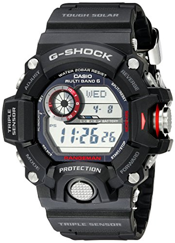 Casio Men's GW-9400-1CR Master Of G Digital Quartz Black Solar Watch