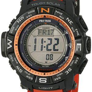 Casio-Mens-PRW-3500Y-4CR-Atomic-Black-Digital-with-Orange-Resin-Band-Watch-0