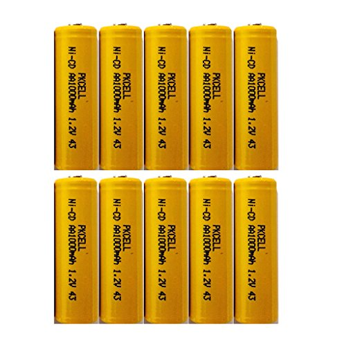 Combo: 10 AA NiCd 1.2V Rechargeable Batteries For Garden Landscaping Solar Lights