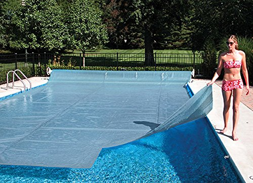 14 39 X 28 39 Rectangle Crystal Clear Swimming Pool Solar Heating Cover Blanket 16 Mil With 6 Pack