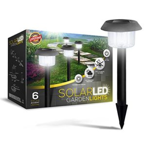 Set-of-6-LED-Solar-Powered-Garden-Lights-Lifetime-Replacement-Guarantee-Perfect-Neutral-Design-Makes-Garden-Pathways-Flower-Beds-Look-Great-Easy-NO-WIRE-Installation-All-WeatherWater-Resistant-100-0