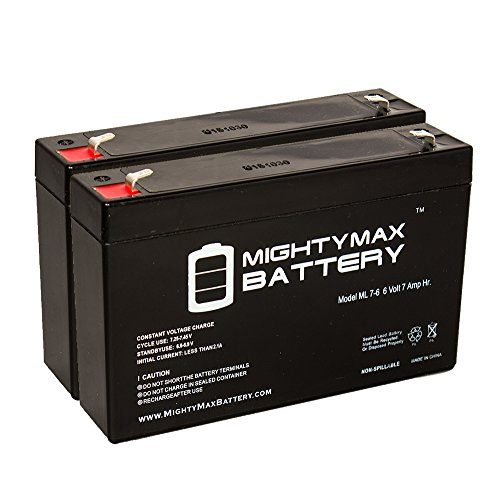 6V 7Ah SLA Battery For Gallagher S17 Solar Fence Charger – 2 Pack – Mighty Max Battery Brand Product