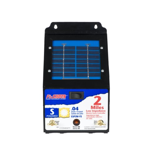 Fi-Shock 2 Mile Solar Powered Low Impedance Pet Deterrent Fence Energizer ESP2M-FS