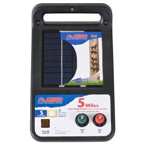 Fi-Shock ESP5M-FS Solar Low Impedance Energizer, 5-Mile