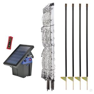Premier-42-PoultryNet-Plus-Starter-Kit-Includes-White-PoultryNet-Plus-Net-Fence-42-H-x-100-L-Double-Spiked-Solar-Fence-Energizer-FiberTuff-Support-Posts-Fence-Tester-0