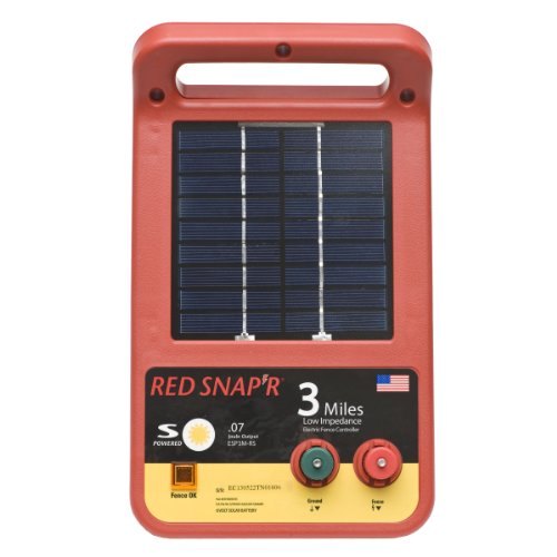 Red Snap'r ESP3M-RS 3-Mile Solar Low Impedance Charger
