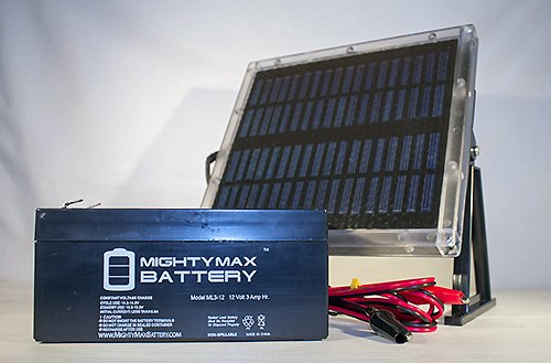 12V 3AH Replaces Cartridge K89716 + 12V Solar Panel Charger – Mighty Max Battery Brand Product