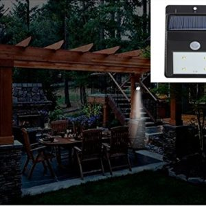 AGPtEK-Solar-Powered-Wireless-LED-Security-Motion-Sensor-Light-Outdoor-WallGarden-Lamp-Motion-Sensor-Detector-Activated-with-Dusk-to-Dawn-Dark-Sensing-Auto-On-Off-Function-for-Patio-Deck-Yard-Garden-H-0