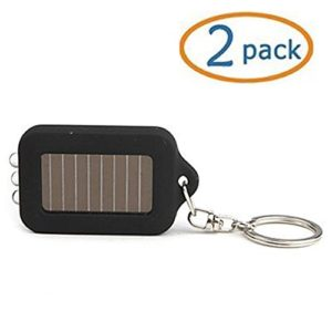 Black-Solar-powered-LED-Flashlight-Keychain-Pack-of-2-0