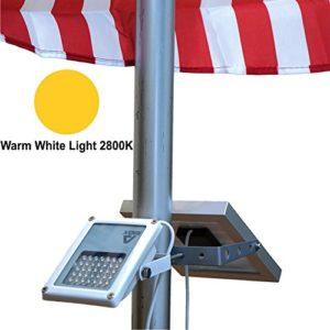ALPHA-180X-Flag-Pole-Light-Warm-White-LED-for-Solar-Flagpole-Lighting-Cast-Iron-Street-Light-Style-Doubled-as-Floodlight-U-Bracket-Fits-Max-Pole-Diameter-25-Warm-White-Light-0