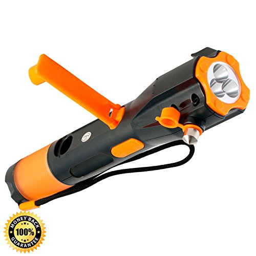 Cynergy-Lifelight-All-in-One-Waterproof-Emergency-Crank-Flashlight-complete-with-Wind-Up-Rechargeable-LED-lights-Window-Breaker-Seatbelt-Cutter-Compass-USB-Cell-Phone-Charger-and-Red-Light-Flasher-0