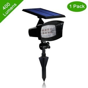Upgraded-400-Lumens-Solar-Powered-Led-Spotlight-2-in-1-Installation-Waterproof-8-LED-Solar-Spot-light-Adjustable-Wall-Light-Security-Lighting-Path-Lights-Landscape-Solar-Flag-Pole-Light-Etc-0