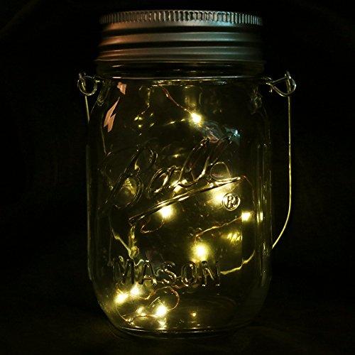 Warm White Solar Garden Fairy Lights: Mason Jar Lights With Solar , LED Warm White