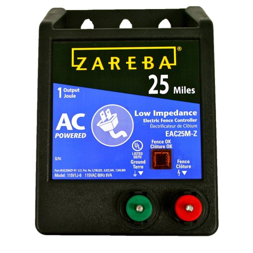 Zareba EAC25M-Z AC-Powered Low-Impedance 25-Mile-Range Electric Fence Charger