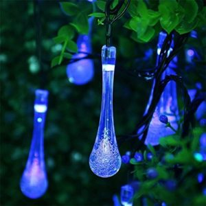 2-Pack-Easternstar-Solar-String-Lights-156ft-30-LED-Durable-Crystal-Water-Drop-Waterproof-Fairy-Lighting-for-Christmas-Outdoor-Garden-Fence-Party-Holiday-Festival-Gift-0