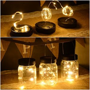 Abkshine-3-Pack-Solar-Mason-Jar-Light-Lid-Insert-10-LED-Warm-White-Solar-Powered-Table-Deck-Lamp-LED-Firefly-Fairy-Lights-for-Wedding-Christmas-Holiday-Party-DecorJars-Not-Included-0