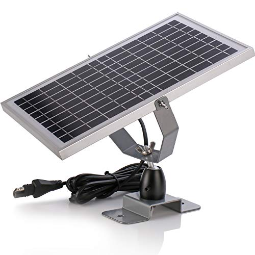SUNER POWER 12V Waterproof Solar Battery Trickle Charger & Maintainer – 10 Watts Solar Panel Built-in Intelligent MPPT…