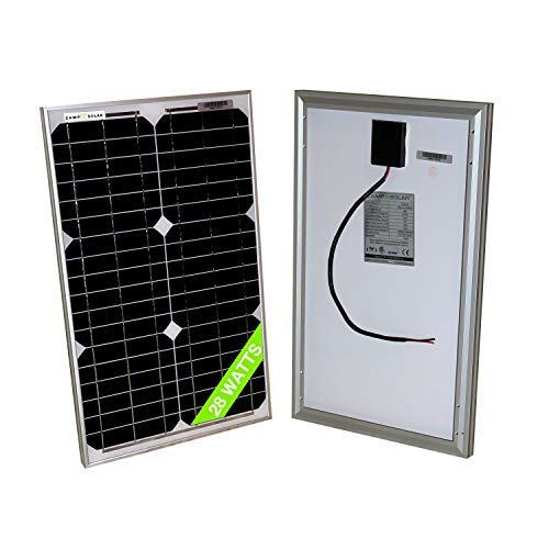 28 Watt Mono 18V Solar Panel 20W 25W 30W RV Van Solar Car Battery Charger Portable Solar Panel Trickle Charger 12 Volt…
