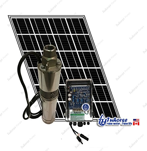 3″ 210W Solar Submersible Deep Well Pump, 1x 195W Solar Panel, 83 Feet Cable Complete Kit. Tuhorse