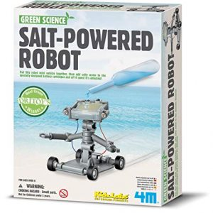 4M-Green-Science-Salt-Water-Powered-Robot-Kit-Green-Energy-Robotics-STEM-Toys-Educational-Gift-for-Kids-Teens-Girls-Boys-0