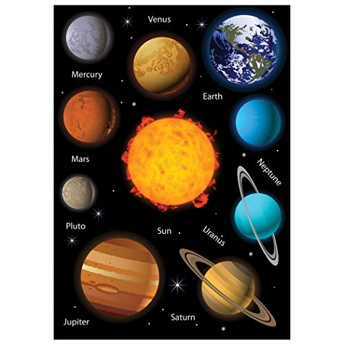 ASHLEY PRODUCTIONS Solar System Science Die-Cut Magnet