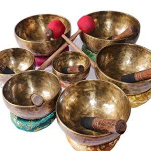 Chakra-Healing-Tibetan-mediation-Singing-Bowl-Set-of-7-Hand-Hammered-antique-Himalayan-Meditation-Bowls-from-Nepal-0