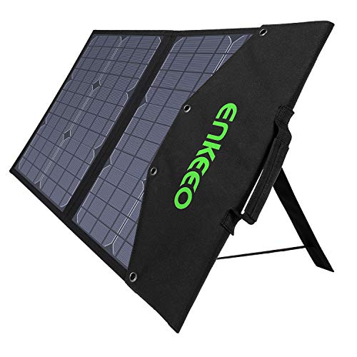ENKEEO 50W Solar Charger, Foldable Solar Panel With MPPT Controller And TIR-C, DC, USB QC 3.0 And 2.0 Output Ports…