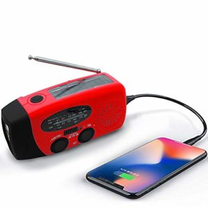 Emergency-Solar-Weather-Radio-Hurricane-Supplies-Earthquake-Kit-Hand-Crank-Self-Powered-AMFMWB-NOAA-Survival-Radios-with-Best-Reception-LED-Flashlight-1000mAh-Power-Bank-for-Household-and-Outdoor-0
