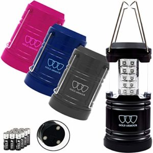 Gold-Armour-4-Pack-LED-Camping-Lantern-Portable-Flashlight-with-12-aa-Batteries-Survival-Kit-for-Emergency-Hurricane-Power-Outage-Great-0