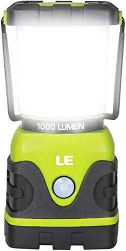 LE LED Camping Lantern, Battery Powered LED With 1000LM, 4 Light Modes, Waterproof Tent Light, Perfect Lantern…