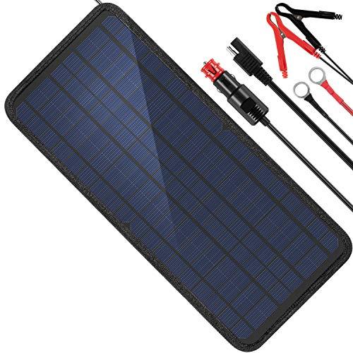 MOOLSUN 12 Volt 12v Solar Battery Charger, 10W Solar Car Battery Charger, Solar Trickle Charger, Solar Panel Battery…