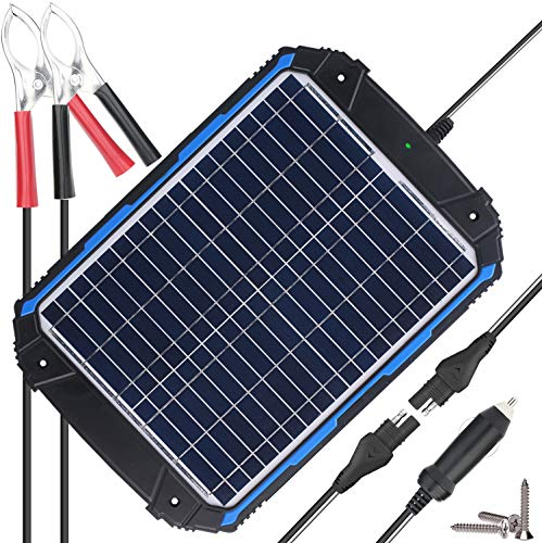 SUNER POWER Waterproof 12V Solar Battery Charger & Maintainer Pro – Built-in Intelligent MPPT Charge Controller – 5W…