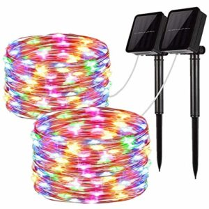 Solar-String-Lights-2-Pack-100-LED-Solar-Fairy-Lights-33-Feet-8-Modes-Copper-Wire-Lights-Waterproof-Outdoor-String-Lights-for-Garden-Patio-Gate-Yard-Party-Wedding-Indoor-Bedroom-0
