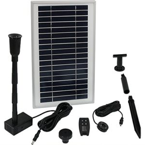 Sunnydaze-Solar-Powered-Water-Pump-and-Panel-Kit-with-Battery-Pack-and-Remote-Control-Use-for-Outdoor-Water-Fountain-Bird-Bath-or-Pond-105-GPH-55-Inch-Lift-0