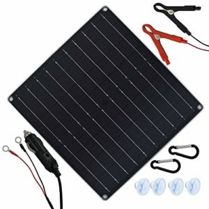 TP-solar-20-Watt-12-Volt-Solar-Trickle-Charger-20W-12V-Solar-Panel-Car-Battery-Charger-Portable-Solar-Battery-Maintainer-Cigarette-Lighter-Plug-Alligator-Clip-O-ring-Terminal-for-Car-Boat-Motorcycle-0