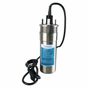 YaeMarine-24V-DC-Stainless-Solar-Submersible-Pump-Solar-Deep-Well-Submersible-Well-Water-Pump-330100m-Lift-32GPM-0